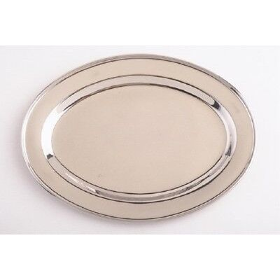 18 Inch Oval Stainless Steel Serving Platter