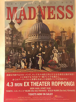 Madness Cant Touch Us Now Japanese Ex Theater Roppongi Promo Flyer