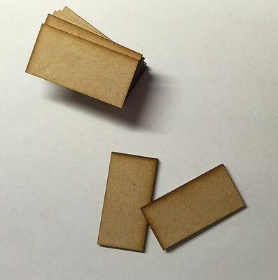 Wooden bases 3mm mdf laser cut wargame 60mm x30mm Embelishments