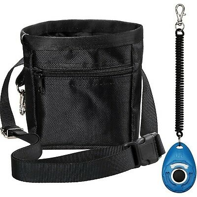 Zacro Dog Treat Training Pouch Bag with Adjustable Strap and One Set of Training