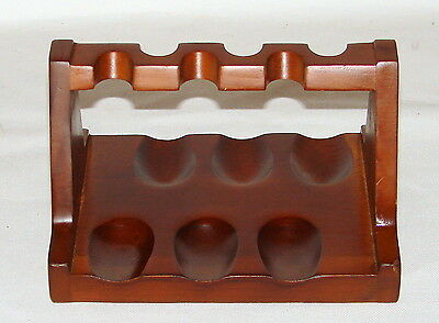 Vintage Kaywoodie 6 Pipe Holder Rack Stand Fine Native Woods