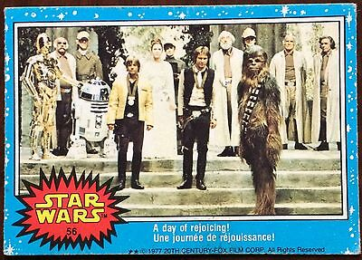 1977 O-pee-chee Star Wars #56 A day of rejoicing!  *Mid Grade