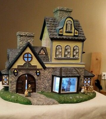 PartyLite Candle Shop Olde World Village Tealight House Collection w/Box P7315