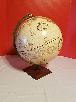 "Vintage Replogle 12"" World Classic Series Globe w Raised Relief"