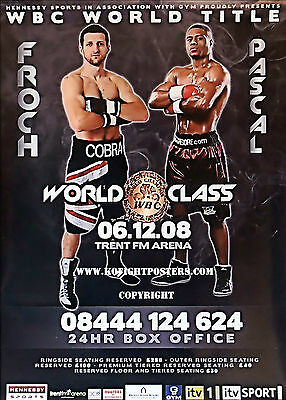 CARL FROCH vs. JEAN PASCAL / Original Onsite Promotional Boxing Fight Poster
