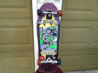 Vintage Skateboard Powell Peralta Wheels Gullwing Airbourne G&S Peanut Brown