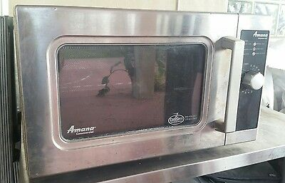 AMANA COMMERCIAL MICROWAVE OVEN ALD10D 1000 Watts RESTAURANT CAFETERIA HOME RVs