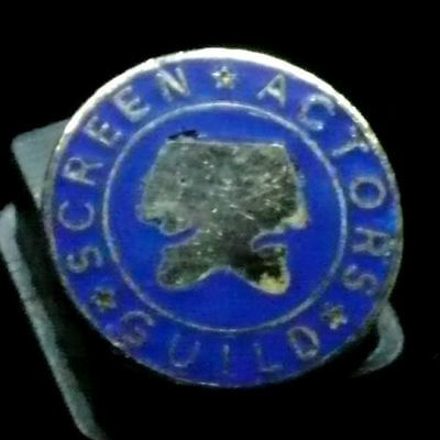 Screen Actors Guild Pin - Stamped Union Made on the Back
