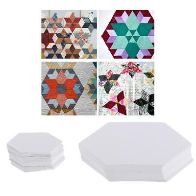 100x Hexagon Paper Quilting Templates English Paper Piecing DIY Patchwork Crafts