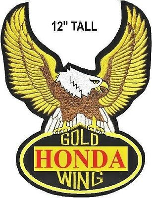 Giant Honda Gold Wing Back Patch, 100 % Embroidery, 9 Inches X 12 Inches