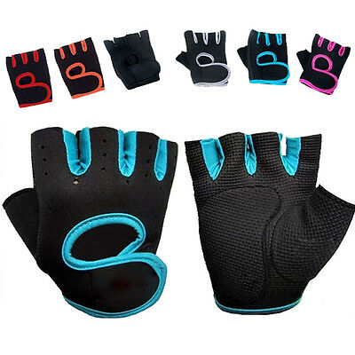 Ladies Womens Gym Weight Lifting Padded Gloves Fitness Training Workout Sports