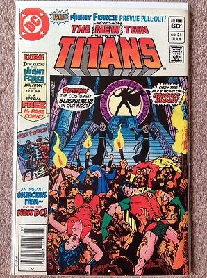 THE NEW TEEN TITANS #21 (1980) DC COMICS NEWSTAND EDITION 1st APPEARANCE OF NM