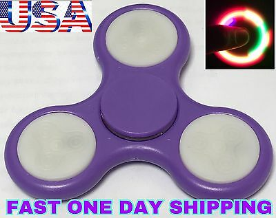LED Spinner Fidget PURPLE NEW COLOR,AUTO FLASHING COLORS ,CHRISTMAS GIFT
