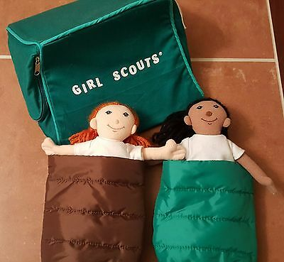 Girl Scout Tent and Dolls, Brownie and Junior Girl Scout Sleeping Bag Camping