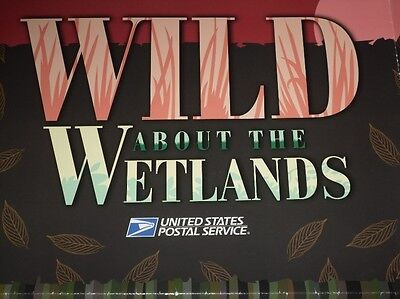 Wild About The Wetlands Usps Stamps Poster Nature Of America Series