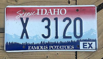 Idaho Exempt License Plate X 3120 Official