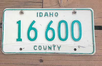 IDAHO COUNTY OFFICIAL LICENSE PLATE 16 600 Green White Base