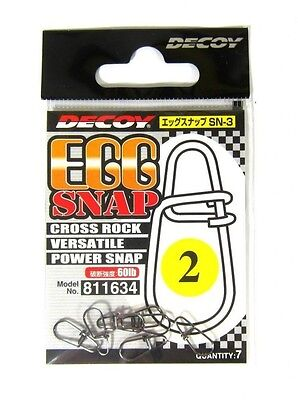 Decoy SN-3 Egg Snap Powerful Cross Lock Snap Size 4 (1658)