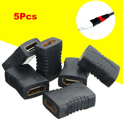 5Pcs HDMI Female to Female Adapter Coupler Connector Converter for HDTV 1080P