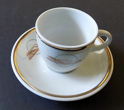 Union Pacific Railroad Winged Streamliner Demitasse Cup and Saucer..Mint