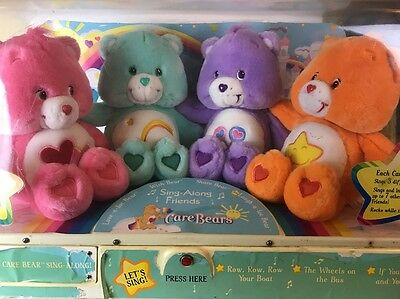 Vintage Play Along Care Bears Sing Along Friends animated store display -works