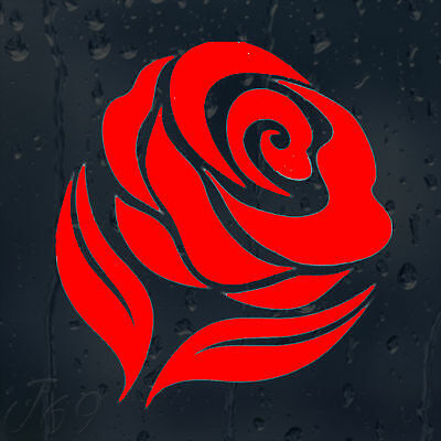 Beautiful Flower Red Rose Car Decal Vinyl Sticker For Window Panel Bumper