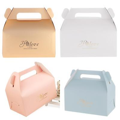 20pcs Quality Love Cake Cheesecake Box with Handle Gift Boxes Wedding Favors