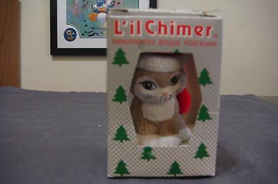 NEW L'il Chimer Bell Bear w/Candy Cane Hanging Christmas Ornament Bell