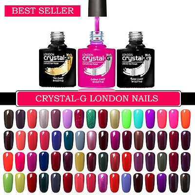 SHELLAC GEL UV LED Salon Quality Soak Off Gel Nail Polish by CRYSTAL-G LONDON