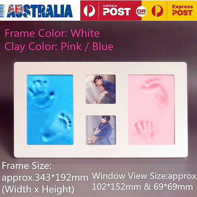 DIY Baby Hand Foot Print Casting Kit With Photo Frame 3D Baby Shower Gift