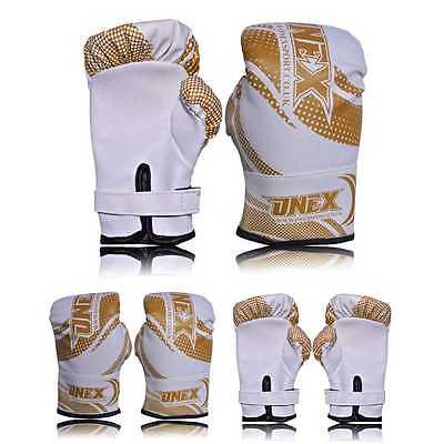 2oz Kids Boxing Gloves Junior Mitts mma Synthetic Leather Sparring Gloves Glod