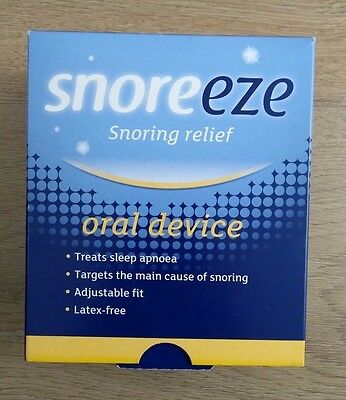Snoreeze Snoring Relief Oral Device, Adjustable Fit, Latex Free, New