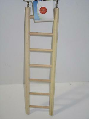 bird cockatiel budgie canary finch small parrot 7 rung step wooden ladder toy