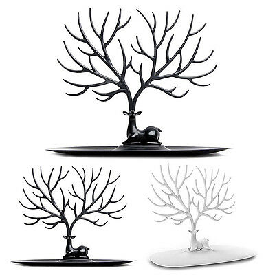 Jewelry Deer Tree Stand Display Organizer Necklace Ring Earring Holder Rack FT