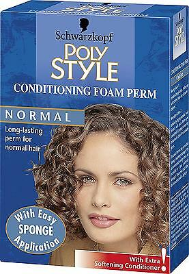 Schwarzkopf Poly Style Conditioning Foam Perm for Normal Hair Pack of 3