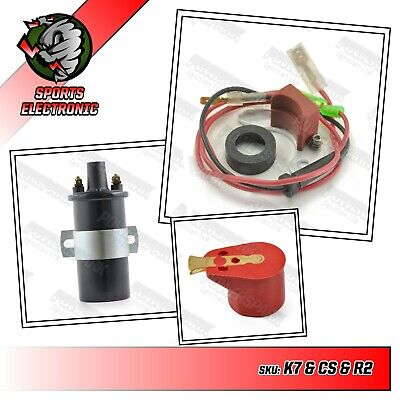 45D6 Powerspark Electronic ignition kit + Powerspark coil red rotor arm