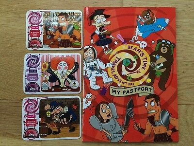 YoYo Bears Time Travel Adventure -My Pastport Collectors Sticker Book and Cards