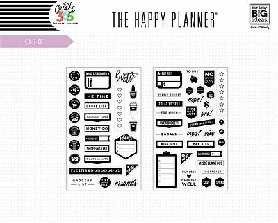 Me & My Big Ideas Create 365 The Happy Planner Everyday Clear Stamps CLS-03