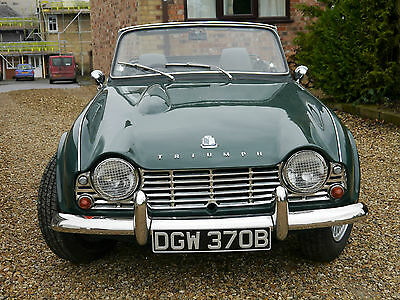 Triumph TR4 Racing Green 1964 with overdrive