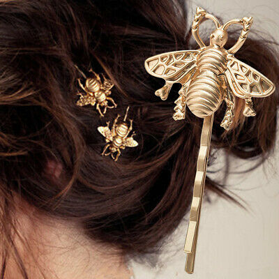 1/2 PCS Fashion Style Hairpin Girl Exquisite Gold Bee Side Clip Hair Accessories