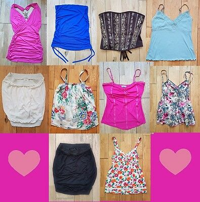 Bundle of Womens Summer  Tops - Size 12 -  Clothing Job Lot