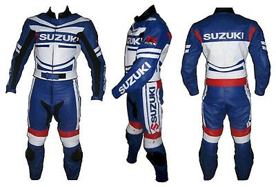 Suzuki MotorBike Leather Suit Racing Motorcycle Leather Suit With CE Armour suit