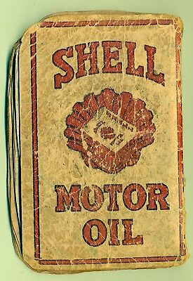 Shell Motor Oil Company Hellas  Vintage Used  Notebook