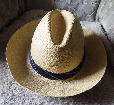 OLNEY HEADWEAR genuine Panama Made in England - size 7 and 1/8th