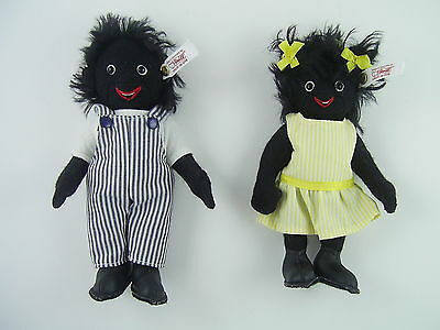 Steiff Kids Boy and Girl Dolls Set, Limited Edition of 1500, 2005, EAN 662157