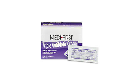 Medi-First Triple Antibiotic Ointment Packets 25 Per Box (6 Boxes) w/ fast ship