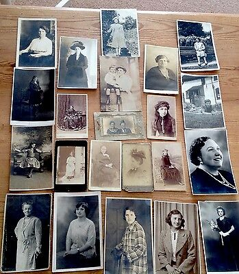 Postcard Antique Women/Lady Portrait Vintage Fashion Photo Postcard FILM TV PROP