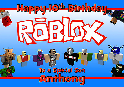 Roblox Personalised A5 Birthday Card Son Brother Nephew Grandson Friend Name Age