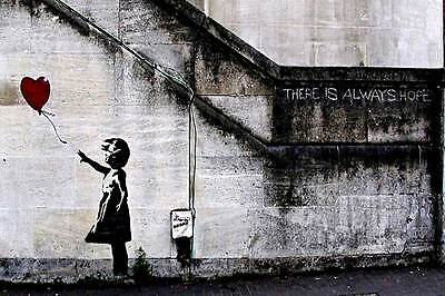 There Is Always Hope Balloon Girl By Banksy Poster Art Wall Pictures