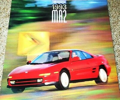 1993 Toyota MR2 MR2 Turbo 18-Page Large Dealer Sales Brochure